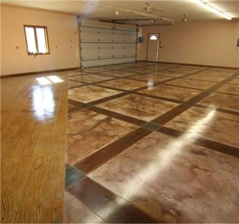 Questions on epoxy coating a garage floor honda tech for How to clean stained concrete garage floors